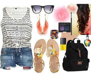 clothes, glasses, and hair image