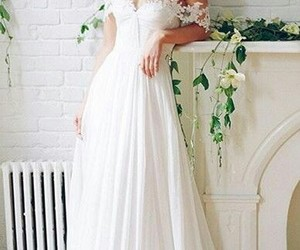 wedding dresses white, wedding dresses a-line, and wedding dresses lace image