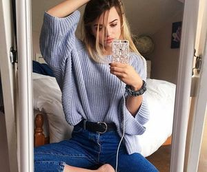 beauty, clothes, and girls image