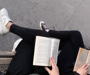 book, mood, and friends image