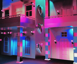 aesthetic, neon, and house image