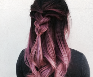 fashion, ombre, and hair image