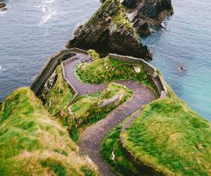 coast, landscape, and green image