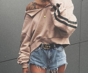 beauty, denim, and outfit image