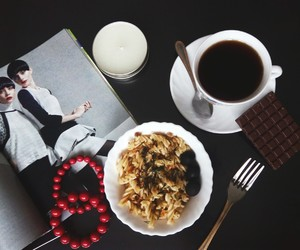 black, chocolate, and dinner image