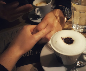coffee, couple, and lovers image
