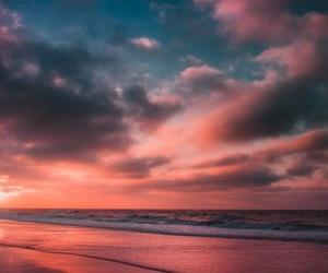 pink, red, and sunset image