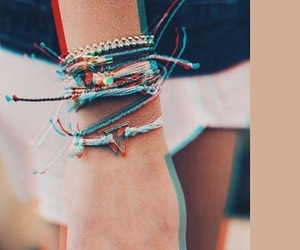 aesthetic, blue, and bracelet image