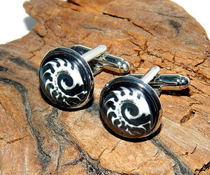etsy, starcraft cufflinks, and video game image