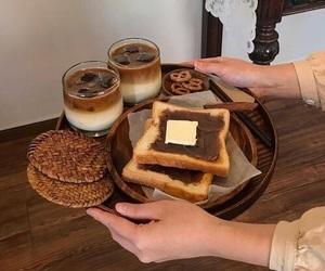 food, breakfast, and brown image