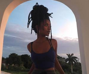 girl, dreads, and beauty image