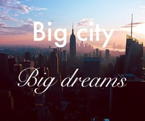 city, dreams, and inspiration image
