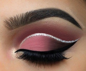 eyeliner, eye, and lashes image