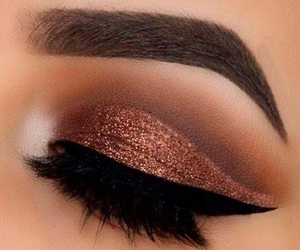 edgy, eye makeup, and sparkle image