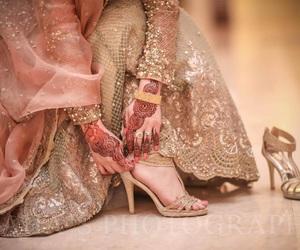 bride, heels, and wedding image