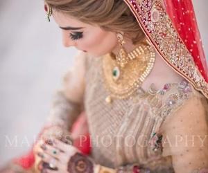 bridal, pakistani, and bride image