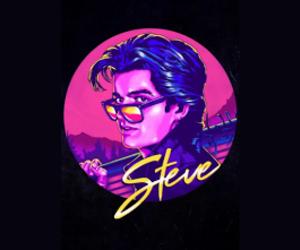 header, purple, and steve harrington image