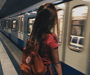 girl, tumblr, and train image