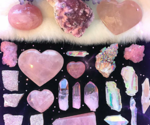 crystals, pink, and gems image