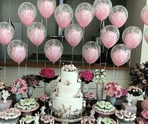 cake, balloons, and birthday image