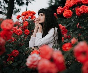 flowers, photography, and portrait image
