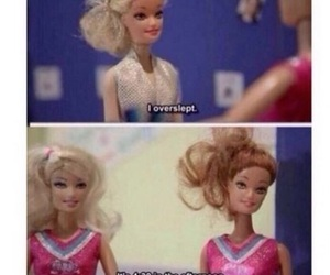 funny, barbie, and overslept image