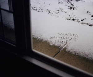 alone, winter, and writing image