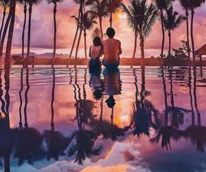 couple, nature, and romantic image