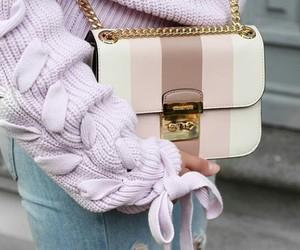 girl, bag, and pink image