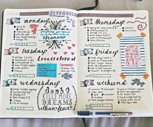 bullet journal, study, and journal image