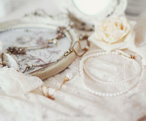 beige, pastel, and lace image