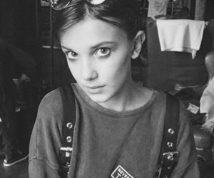 b&w, eleven, and stranger things image