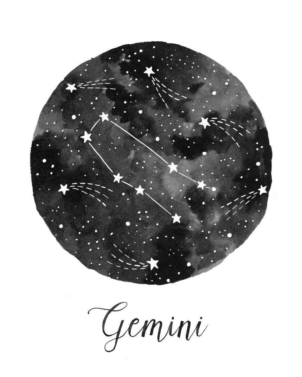 gemini, constellation, and stars image