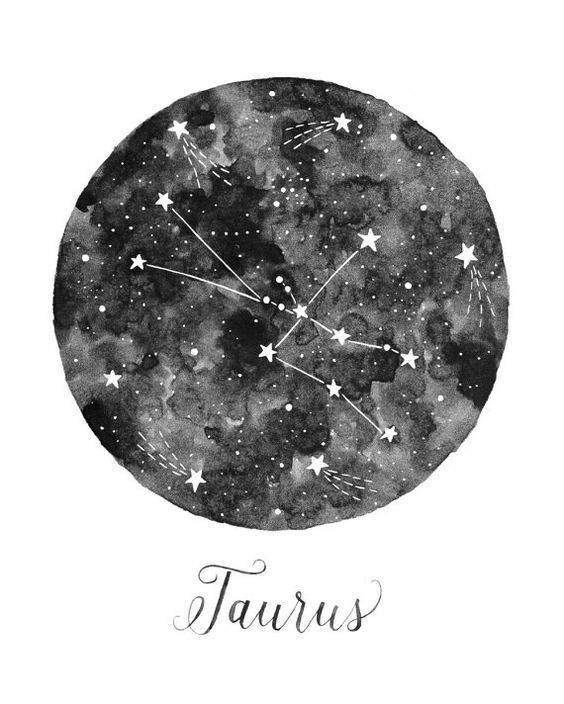 taurus, aesthetic, and stars image