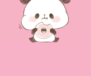 kawaii, panda, and pink image