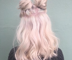 bun, curls, and dyed hair image