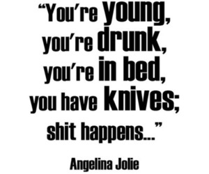 quote and Angelina Jolie image