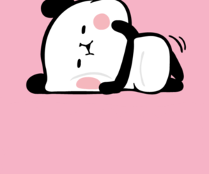 kawaii, panda, and pink image