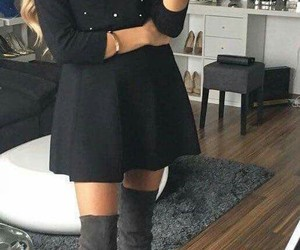 boots, selfie, and dresses image