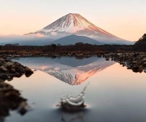 mountains, lake, and travel image