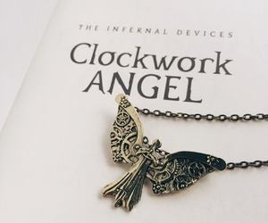 book, necklace, and quote image