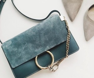 bag, green, and chain image
