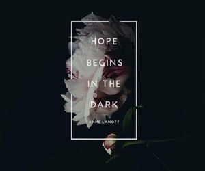 dark, quote, and hope image