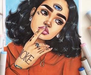 kehlani, art, and drawing image