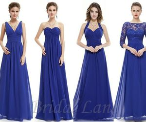 blue, bridesmaid, and dresses image