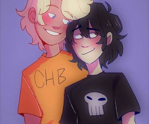 percy jackson, solace, and solangelo image