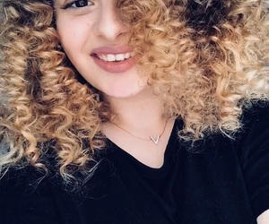 hair, curly girl, and swag image