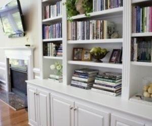 bookshelf, book, and bücher image