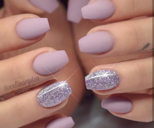 glitter, matte, and nails image