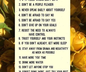 rules, self love, and self care image